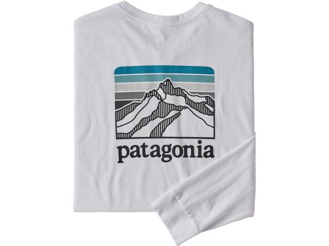 Patagonia LS Line Logo Ridge Responsibili-Tee Men white